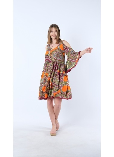 Cottonmood Elbise Oranj
